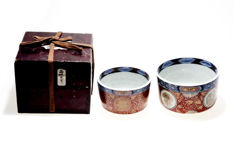 Top imperial quality Japanese Imari ware bowl BOX