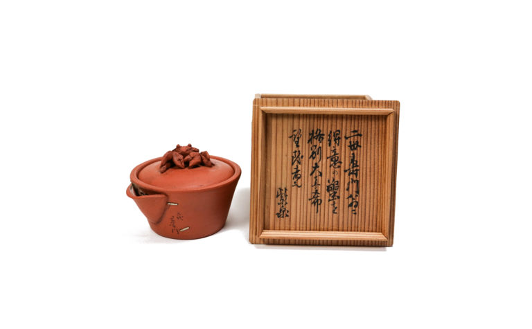 Second SUGIE Jumon Tokoname ware Crab tab Zhuni teapot BOX