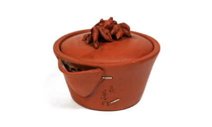 Second SUGIE Jumon Tokoname ware Crab finial Zhuni teapot